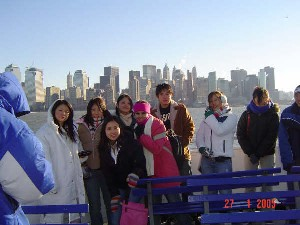 Tour 2005 on the Ferry in NYC
